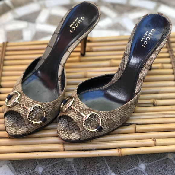 3eb5715cf83 Gucci Shoes - Gucci Hollywood slides open toe heels size 37 1 2